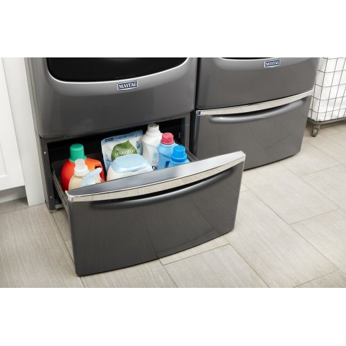 "15.5"" Pedestal for Front Load Washer and Dryer with Storage"