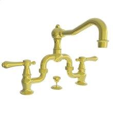 Uncoated Polished Brass - Living Lavatory Bridge Faucet
