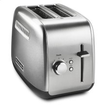 2-Slice Toaster with manual lift lever Brushed Stainless Steel