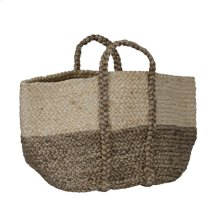Jute Basket Ivory/Gray