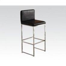 Bk/chrome Bar Chair