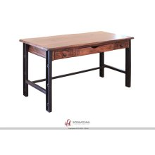 Writing Desk, Parota Wood & Iron Legs
