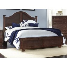 6/6 King Arched Bed - Espresso Pine Finish