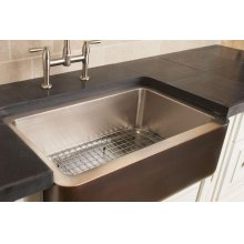 Copper/stainless Farmhouse Sink Stainless Steel / Stainless Steel Sink Grid
