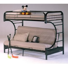 Banner Twin over Full Futon Metal Bunk Bed