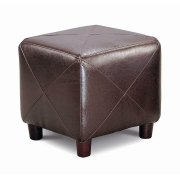 Cube Ottoman Brown Product Image