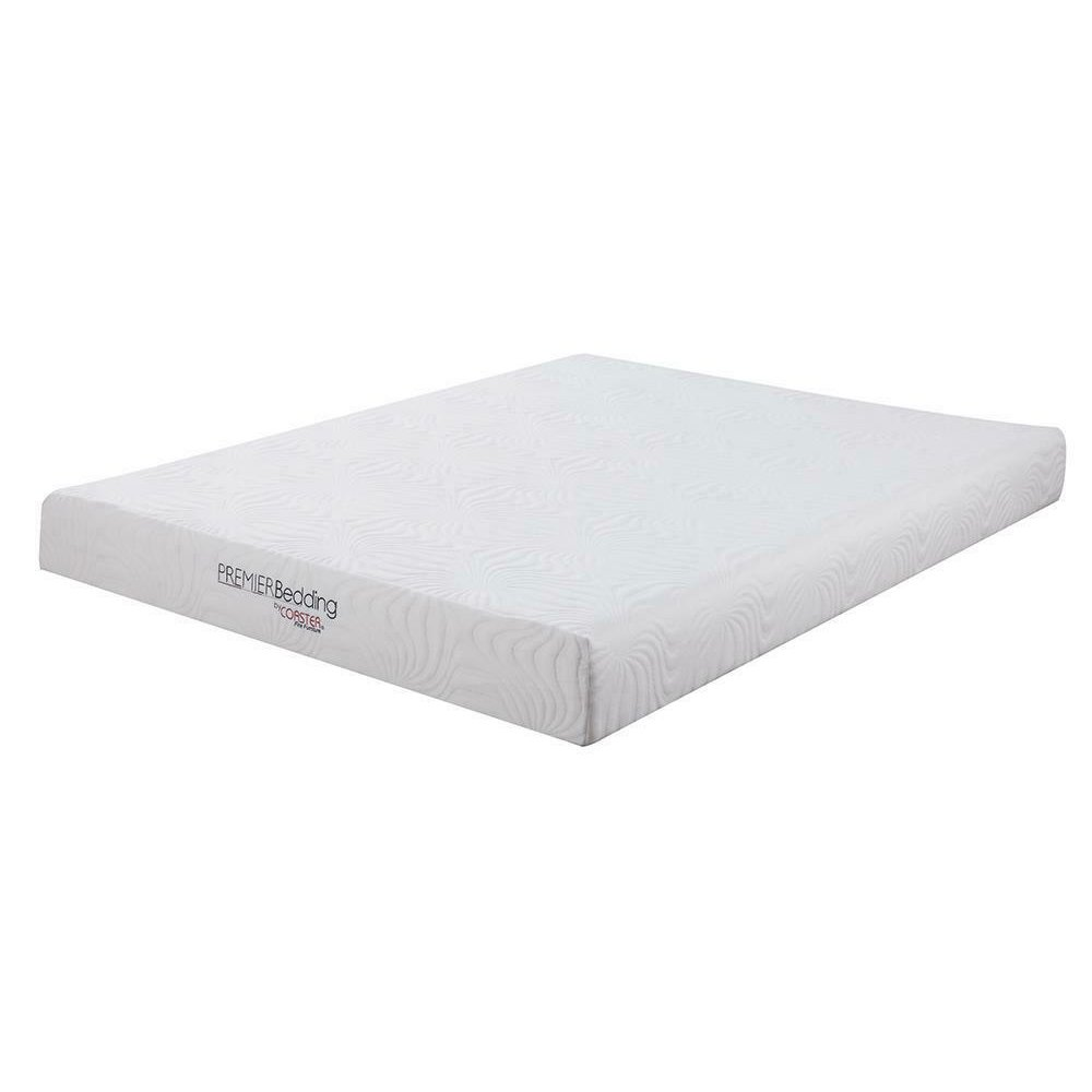 Keegan White 8-inch Eastern King Memory Foam Mattress