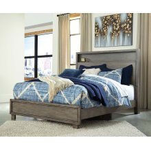QUEEN BED WITH BOOKCASE HEADBOARD
