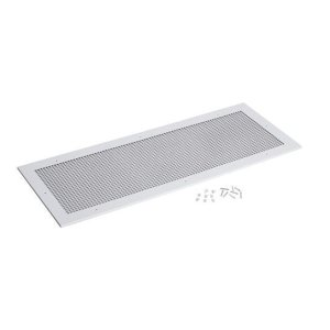 "Grille Kit for Model L3500EXL Ventilator. White enameled steel grille measures 18-3/8"" x 47-1/4"""