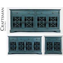 """Craftsman 50"""" Media Unit - Antique Blue"""