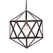 Amethyst Ceiling Lamp Small Rust