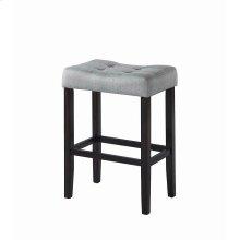 Casual Grey Upholstered Bar Stool