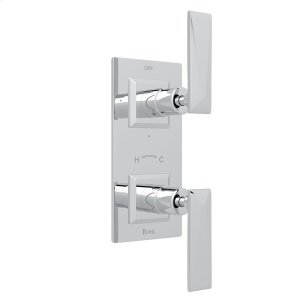 """Polished Chrome Vincent 1/2"""" Thermostatic/Diverter Control Trim with Metal Lever Product Image"""