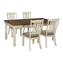 Aria - Antique White 5 Piece Dining Room Set