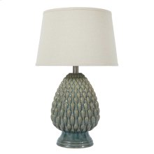 Ceramic Table Lamp (1/CN) Table Lamp - Teal Collection Ashley at Aztec Distribution Center  Houston Texas