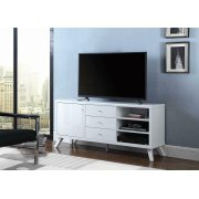 Contemporary White TV Stand Product Image