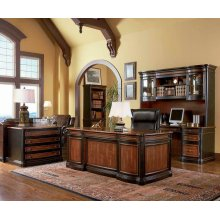 Gorman Traditional Espresso Executive Desk