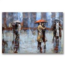 Romance in the Rain 31x47 Metal Wall Art