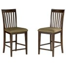 Mission Pub Chairs Set of 2 with Cappuccino Cushion in Walnut Product Image