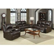 Boston Brown Reclining Two-piece Living Room Set