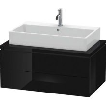 L-cube Vanity Unit For Console, Black High Gloss (lacquer)