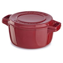 Professional Cast Iron 4-Quart Casserole Empire Red