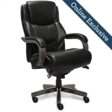 Delano Big & Tall Executive Office Chair, Jet Black