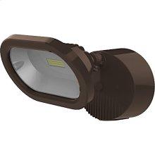 14W LED Single Head Security Light Fixture - Bronze Finish