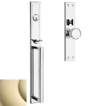Lifetime Polished Brass Hollywood Hills Mortise Handleset Trim
