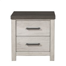 USB Charging 2 Drawer Nightstand in Riverwood Brown