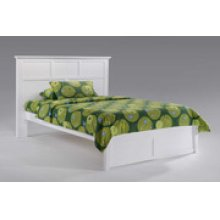 Tarragon Bed in White Finish