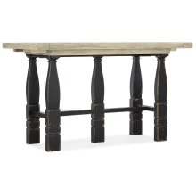 Dining Room Ciao Bella Friendship Table- Flaky White/Black