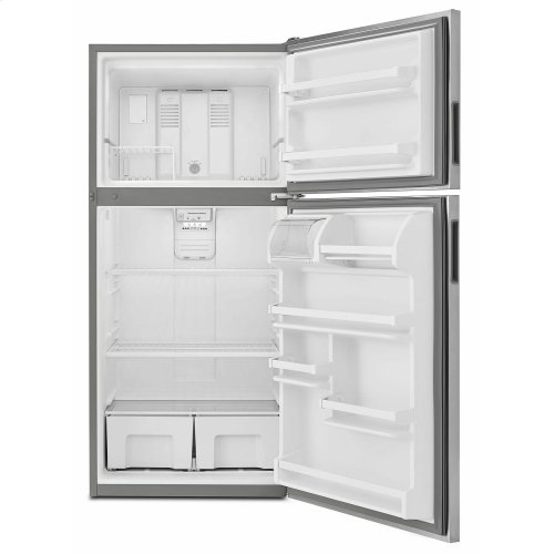 30-inch Wide Top-Freezer Refrigerator with Garden Fresh Crisper Bins - 18 cu. ft. - Monochromatic Stainless Steel