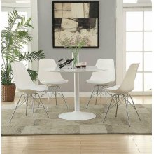 Lowry Contemporary White Dining Chair