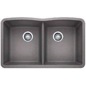 Blanco Diamond Equal Double Bowl - Metallic Gray