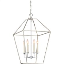 Aviary Chandelier in Polished Nickel