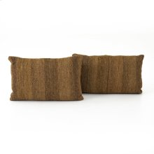 """Flaxen Kilim Pillow, Set of 2-16x24"""""""