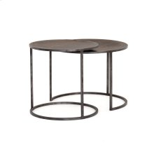 Antique Brass Clad Finish Catalina Nesting Tables
