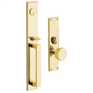 Lifetime Polished Brass Atlanta Entrance Trim Product Image