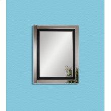 Clear Mirror & Black Glass 36x46