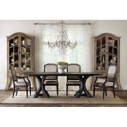 Dining Room Corsica Dark Upholstered Arm Chair