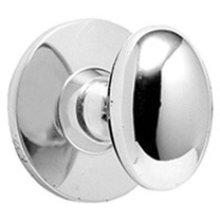 Satin Chrome Bathroom thumb turn, concealed fix