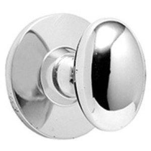 Matt Black Chrome Bathroom thumb turn, concealed fix