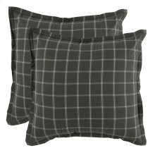 Hudson Plaid 2Pc Euro Sham Set