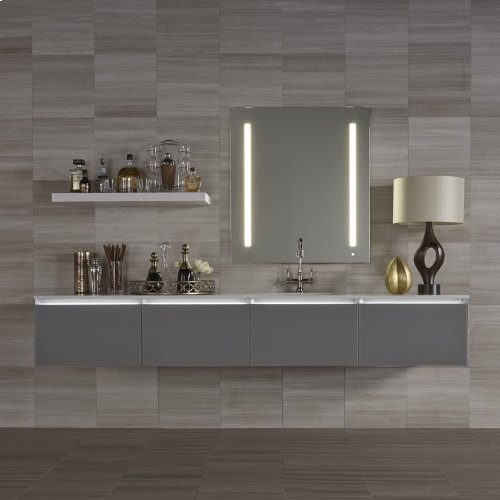 """Aio 23-1/8"""" X 39-1/4"""" X 1-1/2"""" Lighted Mirror With Lum Lighting At 2700 Kelvin Temperature (warm Light), Dimmable and Usb Charging Ports"""