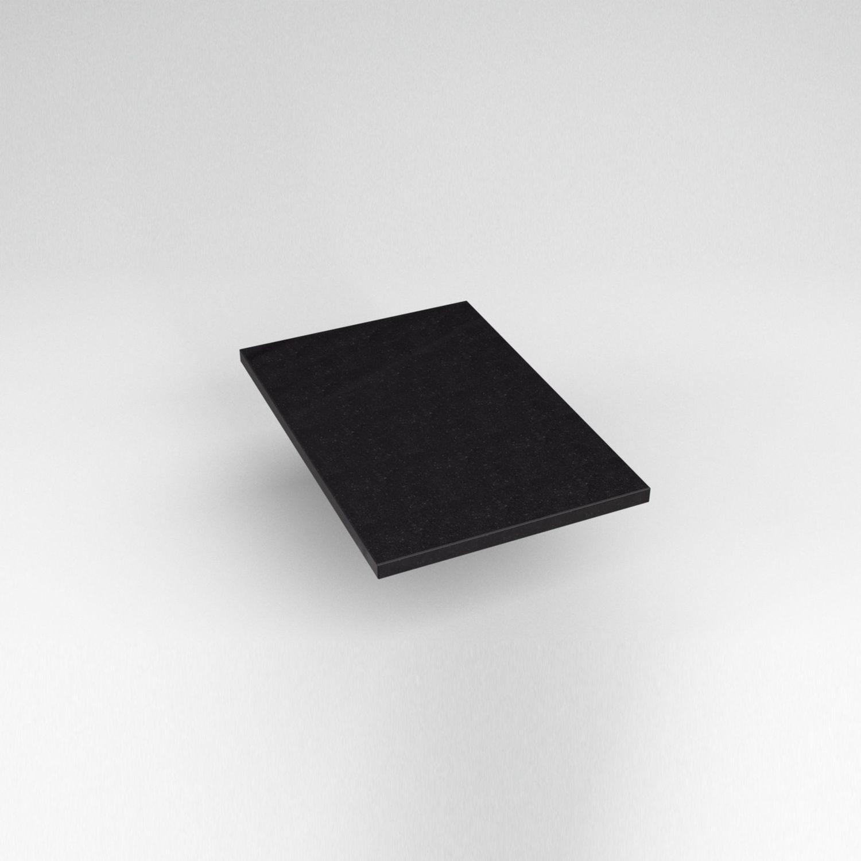 """Engineered Stone 13"""" X 19"""" X 3/4"""" Quartz Dry Vanity Top In Lava Black"""