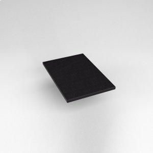 "Engineered Stone 13"" X 19"" X 3/4"" Quartz Dry Vanity Top In Lava Black Product Image"