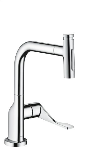 Chrome Single lever kitchen mixer Select 230 2jet with pull-out spray and sBox Product Image