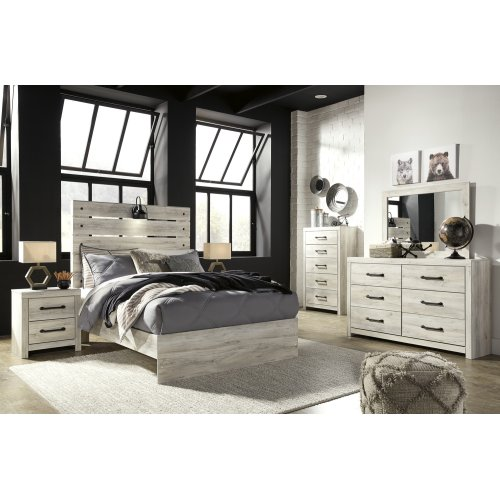 Cambeck - Whitewash 3 Piece Bed Set (Full)