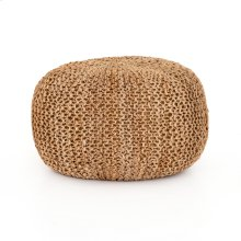 Tan Cover Jute Knit Pouf